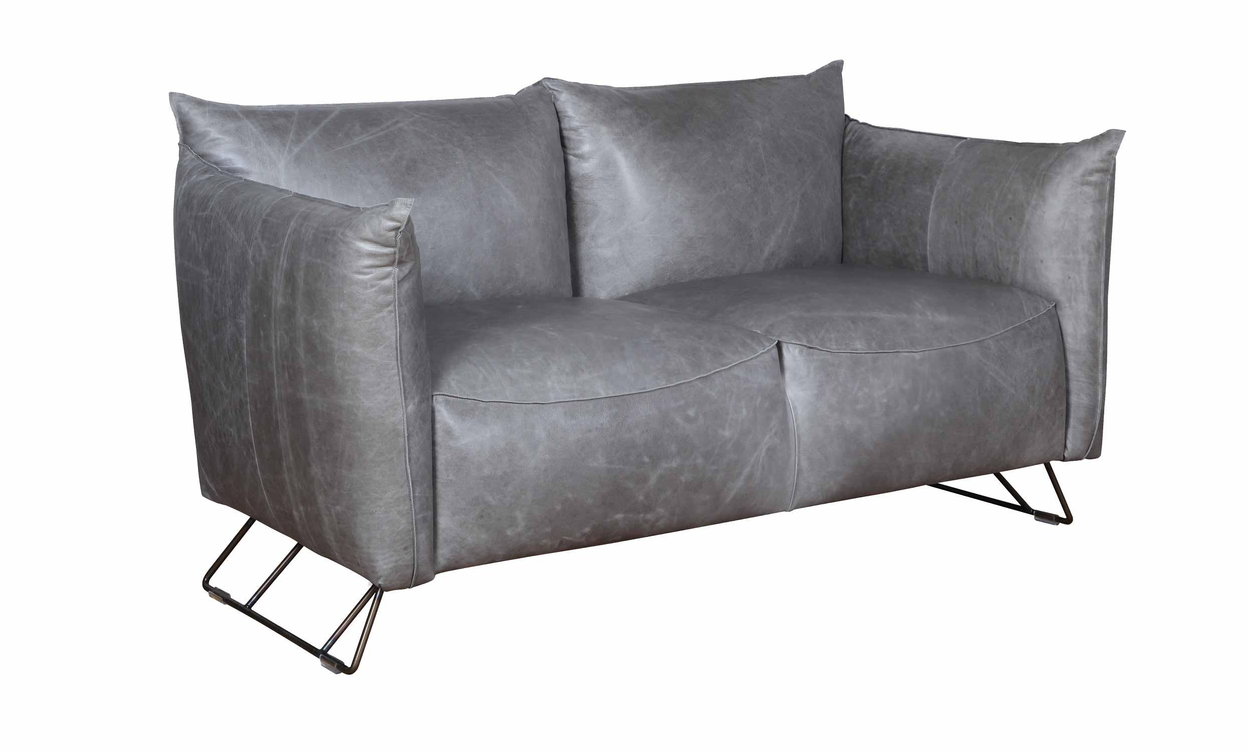 2 Seater Leather Sofa With Legs